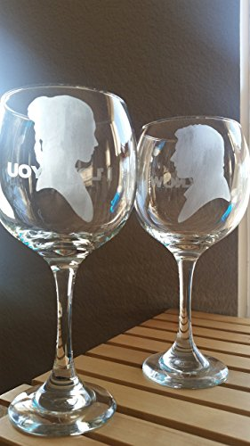 Star Wars Inspired Wine Glass Set Han Solo Leia Organa I Love You I Know Review