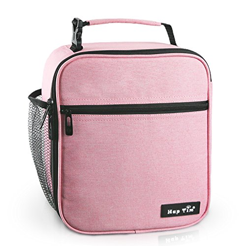 - Hap Tim Insulated Lunch Bag for Women,Reusable Lunch Box for Girls,Spacious Lunchbox Adult Cooler Bag Pink (18654-PK)
