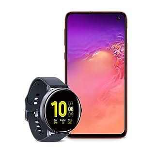 Samsung Galaxy S10e Factory Unlocked Phone with 128GB (U.S. Warranty), Flamingo Pink w/Samsung Galaxy Watch Active2 (44mm), Aqua Black - US Version with Warranty
