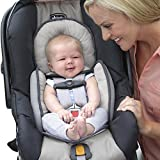 infant car seat insert - Chicco Infant Baby Car Seat Body Support Insert Reversible Padding Ivory and Dark Grey Gray