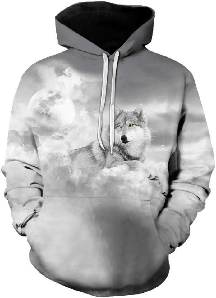 BAI Aassdd 3D Space Printing Pullover Hoodie Sweatshirt Fashion Street Hooded Sweatshirt,* L L