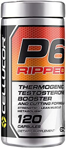 Cellucor P6 Ripped Testosterone Booster For Men + Thermogenic Weight Loss Formula, Build Strength & Lean Muscle, Boost Metabolism & Energy, 120 Count 1