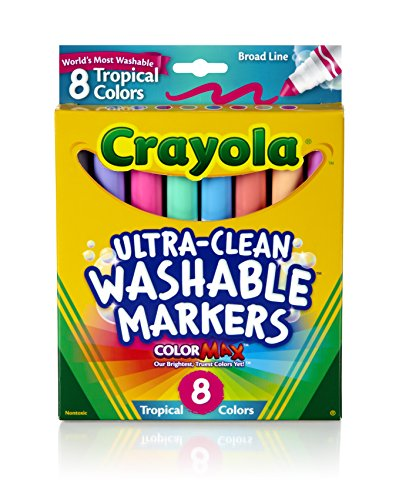 crayola-8ct-washable-tropical-colors-conical-tip