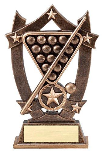 - Decade Awards Billiards 3D Gold Sport Stars Trophy | Star Pool Player Award | 6.25 Inch Tall - Customize Now