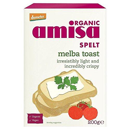 Amisa Organic Spelt Melba Toast - 200g (0.44lbs) by Amisa