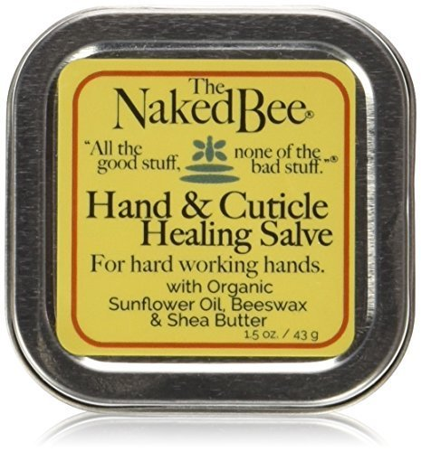 The Naked Bee Hand & Cuticle Healing Salve (1.5 oz/Sunflower, Beeswax & Shea Butter)