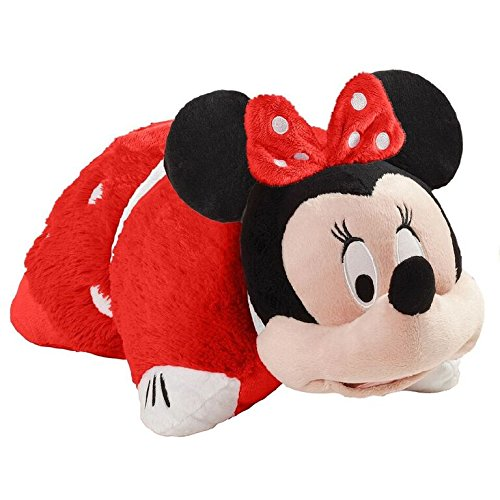 "Pillow Pets Rockin' The Dots Minnie Disney, 16"", Red/White"