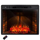 AKDY® 33'' Freestanding Electric Heater Fireplace Log Set w/ Remote Control AZ-EF05-33