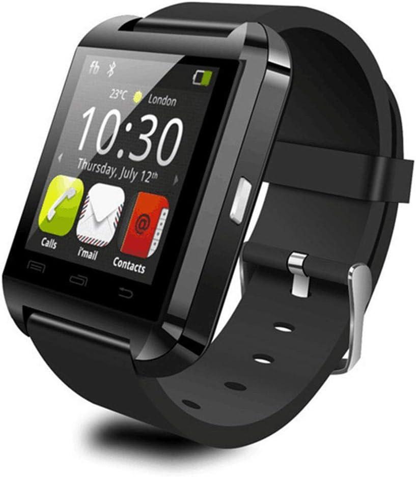 Smartwatch U8, Reloj Inteligente Hombre con 8 Modos Deporte, Reloj Deportivo, Monitor de sueño, Pulsómetro, Podómetro, Caloría, Notificación Llamada y Mensaje, Cámara Remoto para Andriod y iOS IP68