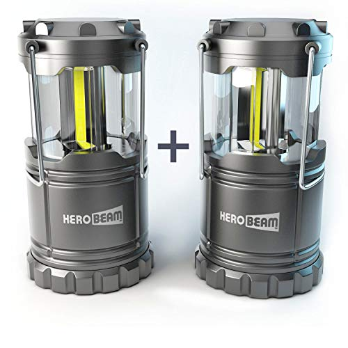 HeroBeam 2 x LED Lantern - Latest COB Technology emits 300 LUMENS! -...
