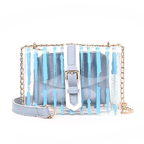 de ZHRUI épaule Sauvage Sacs Casual à Nouvelle Mode Diagonale Main Bleu chaîne Sac ZtHtn0q