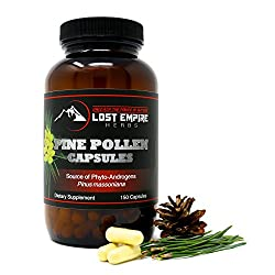 Pine Pollen Powder Capsules - Broken Cell Wall For Optimal Absorption - Packed With Amino Acids, Antioxidants, Vitamins & More - Vegan & Paleo Friendly, Gluten Free - (150 Count)