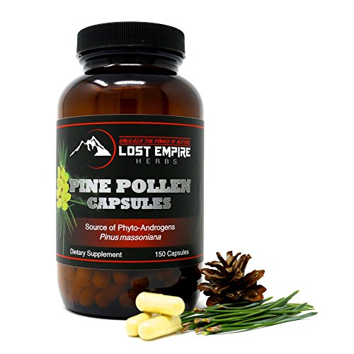Pine Pollen Powder Capsules - Broken Cell Wall for Optimal Absorption - Packed with Amino Acids, Antioxidants, Vitamins and More - Vegan and Paleo Friendly, Gluten Free - (150 Count)