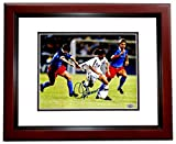 Mia Hamm Signed - Autographed Soccer 8x10 Photo MAHOGANY CUSTOM Frame - Guaranteed to pass PSA or JSA -