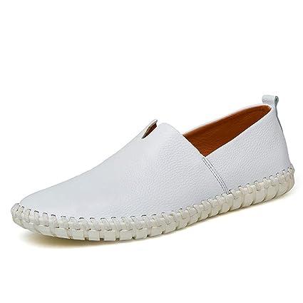 Xiazhi-shoes, Mocasines Ligeros Ocasionales de Cuero Suave Ligeros Huecos Transpirables A Pedal Pedales
