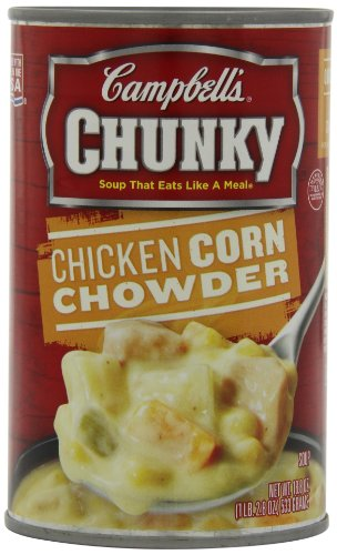 Campbell's Chunky Soup, Chicken Corn Chowder, 18.8 Ounce (Pack of 12)