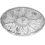 CRYSTAL ROUND SECTIONED CANDY DISH