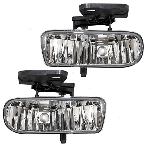 AVEC Brand 99-02 Chevrolet Silverado 1500 2500 OE S clear fog lamp lights replacement pair set 1999 2000 2001 2001