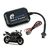 KOBWA Mini Real Time Vehicle Motorcycle GPS Tracker, Motorcycle Bike Monitor Tracker Tracking Device