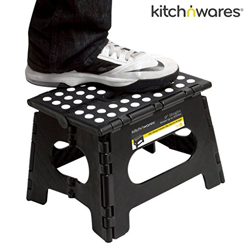 Folding Step Stool With Handle 9 Inch Heavy Duty Safe