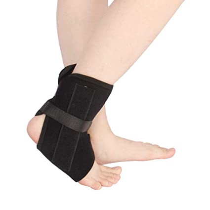 b652af8c8aa Buy Healifty Foot Drop Brace Orthotics Ankle Foot Support Ankle Protection  Belt Ankle Fixed Protective Gear Black Online at Low Prices in India -  Amazon.in