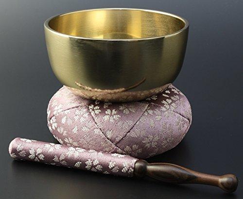 京仏壇はやし モダン仏具 日和 ( ひより ) りんセット フッ素加工 3.5寸 / 薄紫 B00N4O99NI 薄紫 薄紫