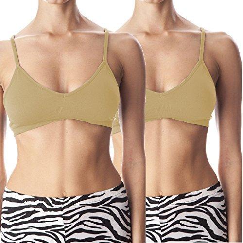 Anemone Women's Seamless V-neck Padded Bra w/ Adjustable Straps -  -