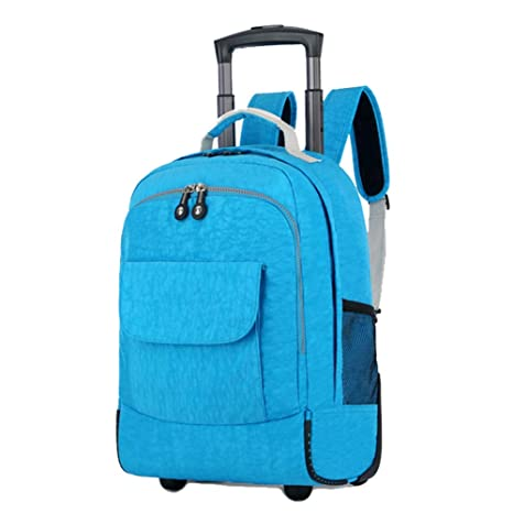 7cb1bd9b75 DYYTR Zaino Zaino Trolley con Ruote A Ruote Business Bag Ruote Laptop Zaino  A Bordo (