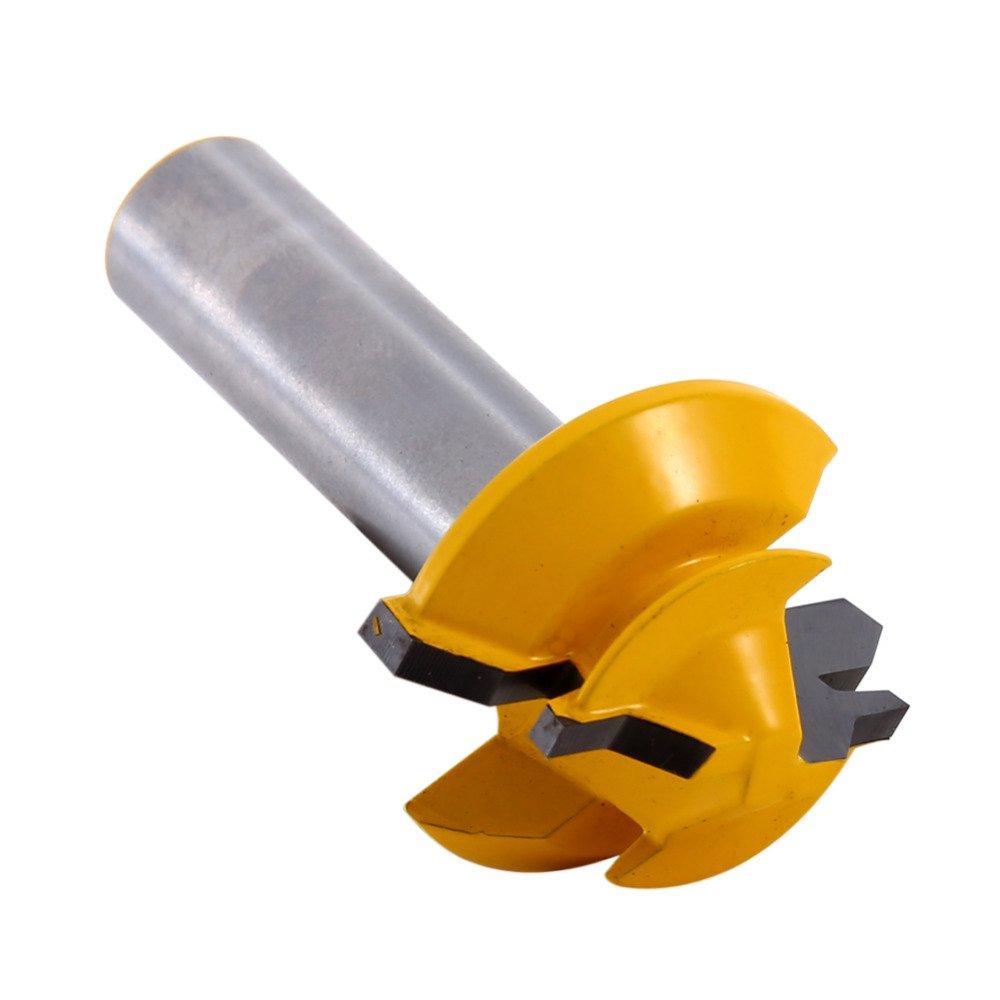 1/2'' Shank Small Lock Miter Rail Stile Router Bit Anti-kickback 45 Degree 1/2'' Stock 1/2'' Shank