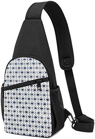 ボディ肩掛け 斜め掛け 幾何学図 ショルダーバッグ ワンショルダーバッグ メンズ 軽量 大容量 多機能レジャーバックパック