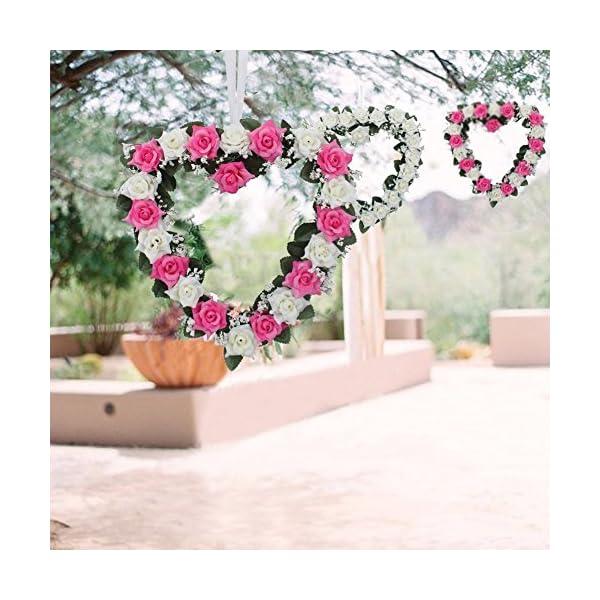 Lanlan-Heart-Rose-Wreath-for-Wedding-Decorations-Home-Decorations-Door-Decorations-Living-Room-Hanging-Flower-White-purple-1PCS