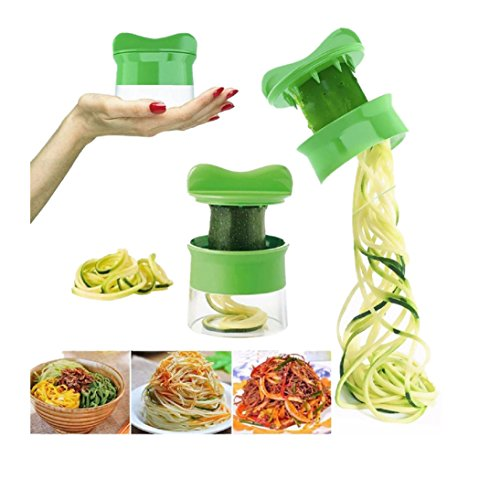 Slicer for Spiral Vegetable Fruit, Fheaven Cutter Grater Twister Peeler Kitchen Gadgets