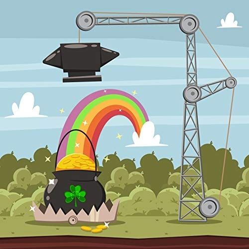 - Leowefowa 7x7ft St. Patrick's Day Backdrop Pulley Crane Pot of Gold Coins Rainbow Backgroud Lucky Clovers Spring Vinyl Photography Backgroud Luck Bless Party Children Adult Photo Shoot Props