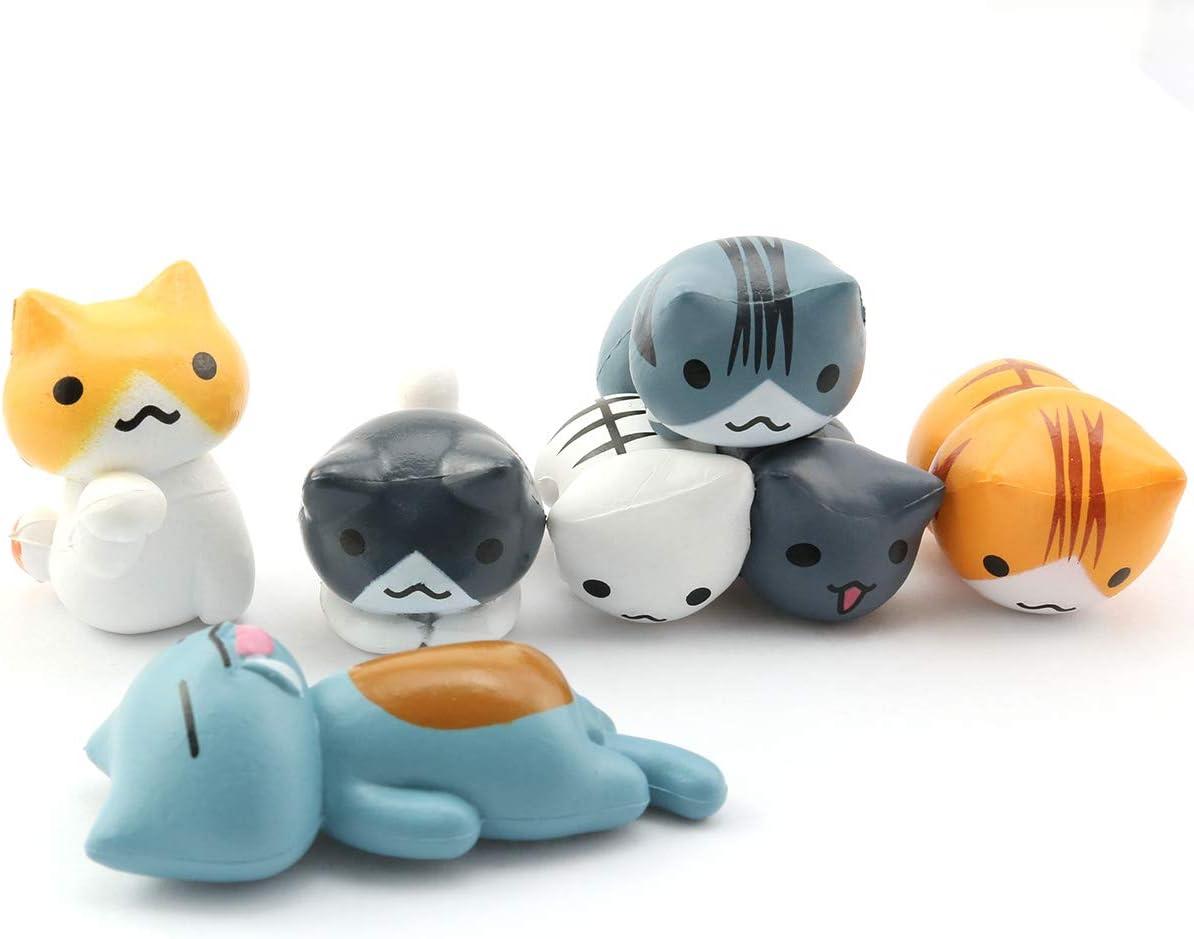Lind Kitchen 6PCS Mini Cats Miniatures Craft Fairy Decor for DIY Miniature Micro Cute Garden Landscape Succulent
