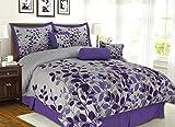 Lavender and Grey Comforter Set Purple / Grey / Lavender Comforter Set Fresca Vine Flocking Bed In A Bag California King Size Bedding
