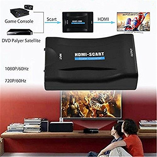 MHL HDMI to SCART 1080p Video Audio Converter Scaler Smartphone Sky STB DVD