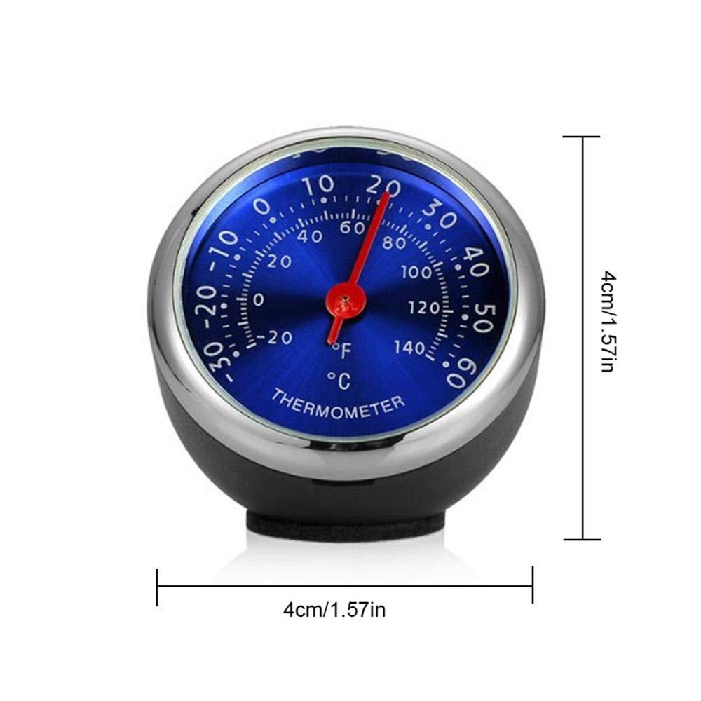 mec/ánico de Temperatura peque/ña Hygrometer peque/ño Tablero de mandos anal/ógico decoraci/ón de Tablero Mini term/ómetro e higr/ómetro para Coche Volwco