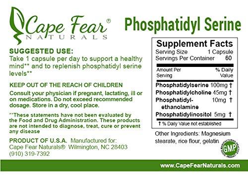 Cape Fear Naturals Phosphatidyl Serine, 100mg each, 60 Capsules by Cape Fear Naturals (Image #1)
