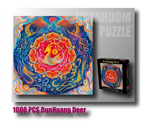 - Noyardom 1000 Pieces Creative Pattern Jigsaw Puzzles for Adults and Kids (P_Square, DunHuang Deer)