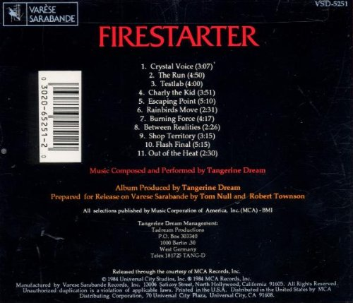 Firestarter: Music From The Original Motion Picture Soundtrack by Varese Sarabande