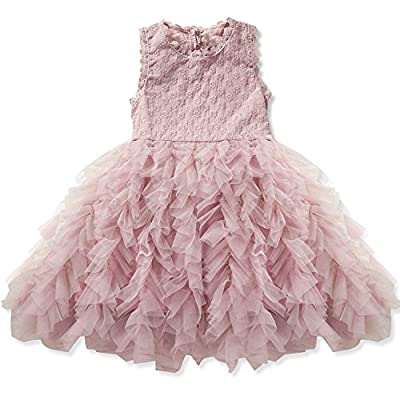 NNJXD Girls Sleeveless Pageant Princess Party Dress Ruffles Tutu Dresses 3-8 Years