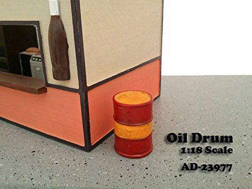 Oil Drum Accessory Set of 2 For 1:18 Scale Models by American Diorama 23977