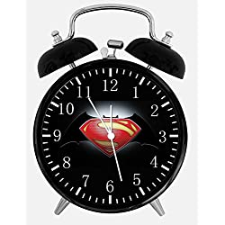 Ikea New Superman Batman Alarm Desk Clock 3.75 Room Decor E22 Will Be a Nice Gift