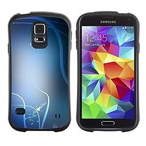 Suave TPU Caso Carcasa de Caucho Funda para Samsung Galaxy S5 SM-G900 / White Lines Birds Abstract Clean / STRONG