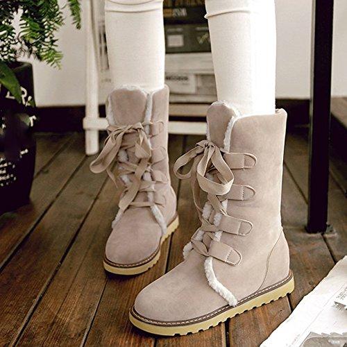 Stivali Da Donna, Hatop Moda Donna Snow Stivaletti Alla Caviglia Scarpe Casual Beige