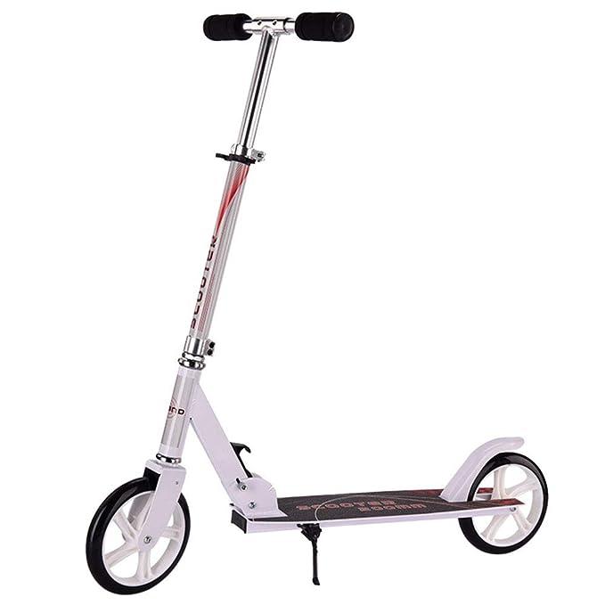 Cvbndfe Durable Scooter Plegable para niños Deluxe Aluminio ...