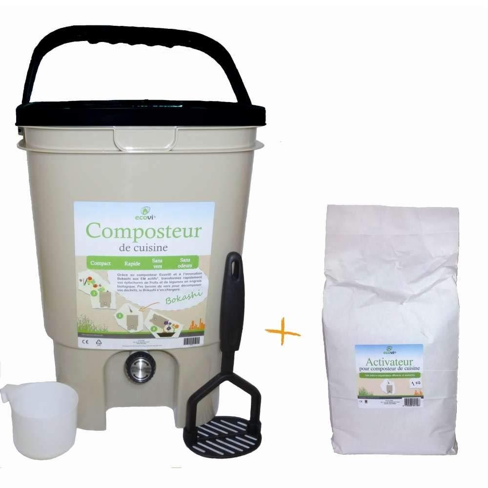 ecovi: compostador de cocina ecovi® Activador: Amazon.es: Jardín