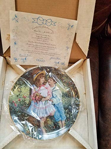 "Sandra Kuck Plate ""Little Sweethearts"" from ""Reco"" Barefoot Children Plates"
