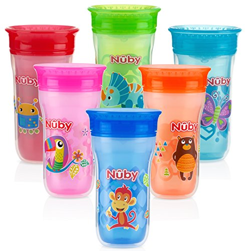 Nuby 1pk No Spill 360 Insulated Wonder Cup - Colors May Vary