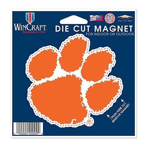 Clemson Magnet - WinCraft NCAA Clemson University Die Cut Magnet, 4.5